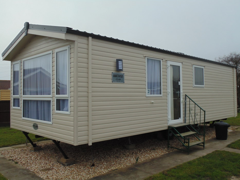 Original Caravan Holiday Home For Hire At Haven Hopton Near Great Yarmouth